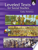 Leveled Texts for Social Studies  Early America