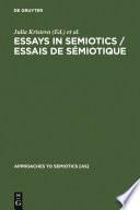 Essays in Semiotics  Essais de s  miotique