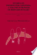 Studies on Freshwater Copepoda  a Volume in Honour of Bernard Dussart