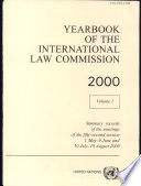 Yearbook of the International Law Commission 2000