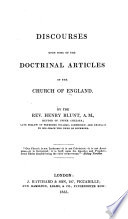 Discourses Upon Some Of The Doctrinal Articles Of The Church Of England
