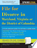 File For Divorce In Maryland Virginia Or The District Of Columbia