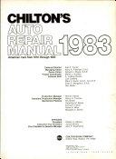 Chilton S Auto Repair Manual 1983