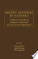 Recent Advances In Statistics