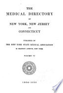 The Medical Directory of New York  New Jersey and Connecticut
