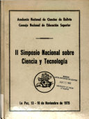 II  i e  Segundo  Simposio Nacional sobre Ciencia y Tecnolog  a  La Paz  13 16 noviembre de 1975