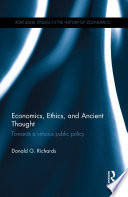 Economics Ethics And Ancient Thought book