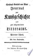 Christoph Gottlieb von Murr Journal zur Kunstgeschichte und zur allgemeinen Litteratur