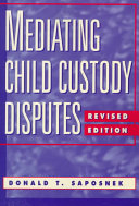 Mediating Child Custody Disputes