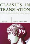Classics in Translation  Volume I
