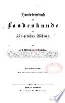 Handwörterbüch der Landes kunde des Königreiches Böhmen