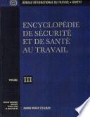 Encyclop  die de s  curit   et de sant   au travail