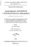 Ekonomická integrácia v socialistických krajinách