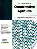 The Pearson Guide To Quantitative Aptitude For Competitive Examination