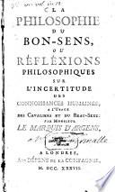 La philosophie du bon-sens