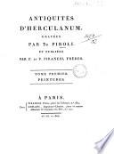 *Antiquites d'Herculanum, gravees par Th. Piroli, avec une explication par S.-Ph. Chaude; et publiees par F. et P. Piranesi, freres. Tome 1. -6.. - A Paris : chez Piranesi, freres ; Leblanc, imprim.r, 1806 (de l'imprimerie de Leblanc). - 6 v. : tutti ill. ; 4. ((Testo inciso