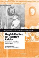 """Ungleichheiten im """"Dritten Reich"""""""