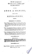 Remarks on the Book of Daniel, and on the Revelations