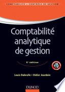 Comptabilit   analytique de gestion   6  me   dition