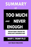 SUMMARY Of Too Much and Never Enough Book PDF