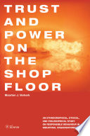 Trust And Power On The Shop Floor book