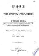 Handbuch der thierärztlichen Operationslehre