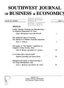 Southwest Journal of Business and Economics