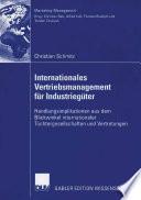 Internationales Vertriebsmanagement für Industriegüter