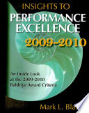 Insights to Performance Excellence 2009 2010