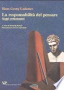 La responsabilità del pensare Book Cover