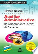 Auxiliares Administrativos Corporaciones Locales de Canarias  Temario  Ebook