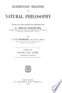 Elementary Treatise On Natural Philosophy Sound And Light 1900