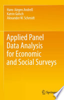 Applied Panel Data Analysis for Economic and Social Surveys