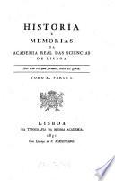 Hist  ria e mem  rias da Acad  mia Real das Sci  ncias de Lisboa