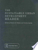 The Sustainable Urban Development Reader Sources This Key Book Investigates How Our Cities