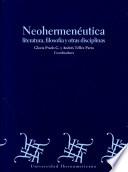 Neohermenéutica, literatura, filosofía y otras disciplinas