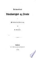 Nordmaendenes videnskabelighed og literatur i middelalderen