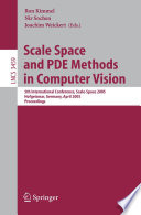Scale Space And Pde Methods In Computer Vision book