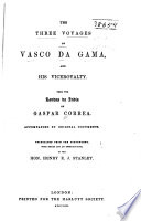 illustration The Three Voyages of Vasco Da Gama, and His Viceroyalty