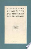 Conf  rence europ  enne des ministres des transports   Neuvi  me Rapport Annuel