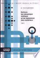Notions de mécanique statique et de résistance des matériaux