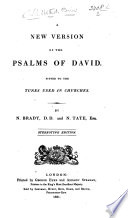 A New Version of the Psalms of David  etc