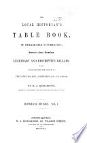 The Local Historian S Table Book book