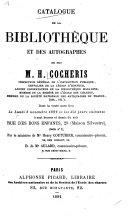 Catalogue de la bibliothèque et des autographes de feu M.H. Cocheris ...