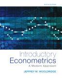 Introductory Econometrics: A Modern Approach