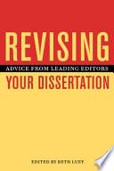Revising Your Dissertation Book PDF