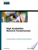 High Availability Network Fundamentals