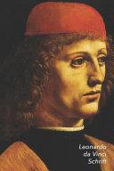Leonardo Da Vinci Schrift Portret Van Een Musicus Artistiek Dagboek Ideaal Voor School Studie Recepten Of Wachtwoorden Stijlvol Notitieb