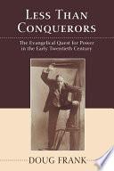 Less Than Conquerors book