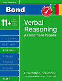 Bond Verbal Reasoning Assessment Papers 9 10 Years